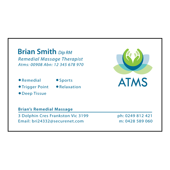 ATMS Template Business Cards